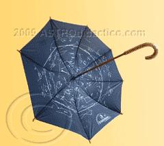 Planisferio en un paraguas